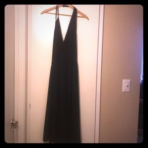 Black low cut kris cross front Free Press dress